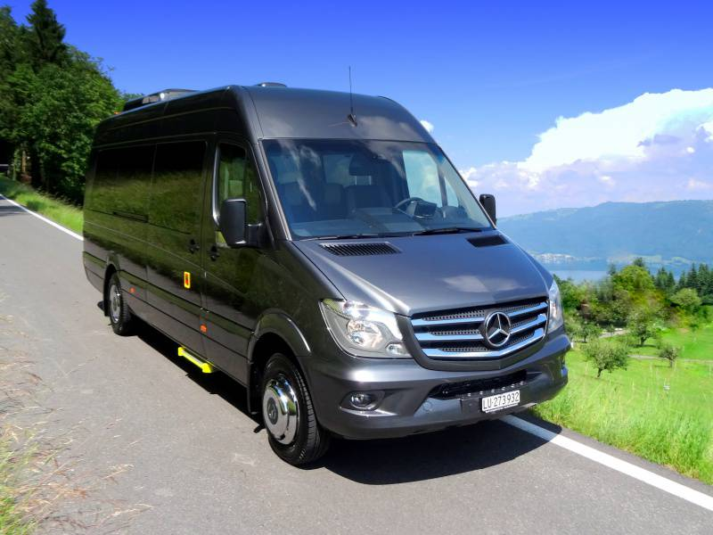 Passenger transportation is as individual as the passengers who travel. As good looking as versatile, this minibus does not forfeit comfort for it's functionality. For your VIP group transfers this minibus is as every bit luxurious as it is stylish.